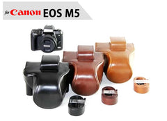 Leather Case Holster for Canon EOS M5 M50 with 15-45mm Lens