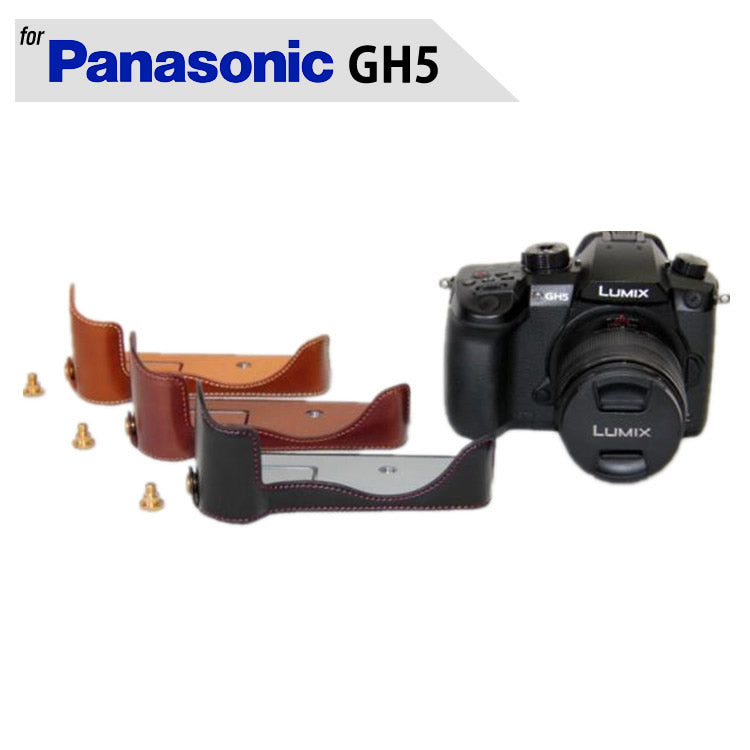 Leather Half Case for Panasonic GH5