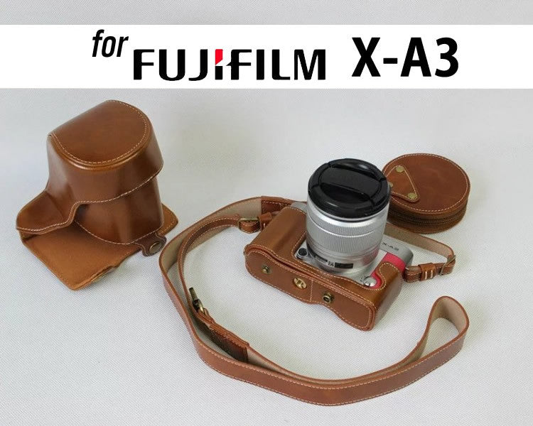 Hardcover Leather Case Holster for Fujifilm X-A3 X-A10