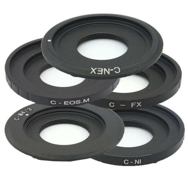 Adapter Ring C Mount Lens Macro ring for CCTV Lens 25mm f1.4 35 50mm