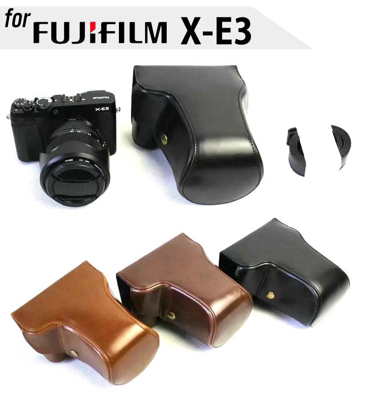 Leather Case Holster for Fujifilm X-E3 with 18-55/16-50mm Lens