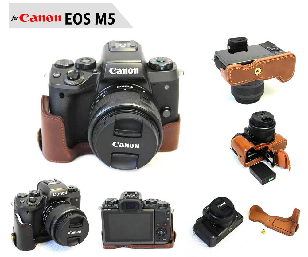 Leather Half Case for Canon EOS M5