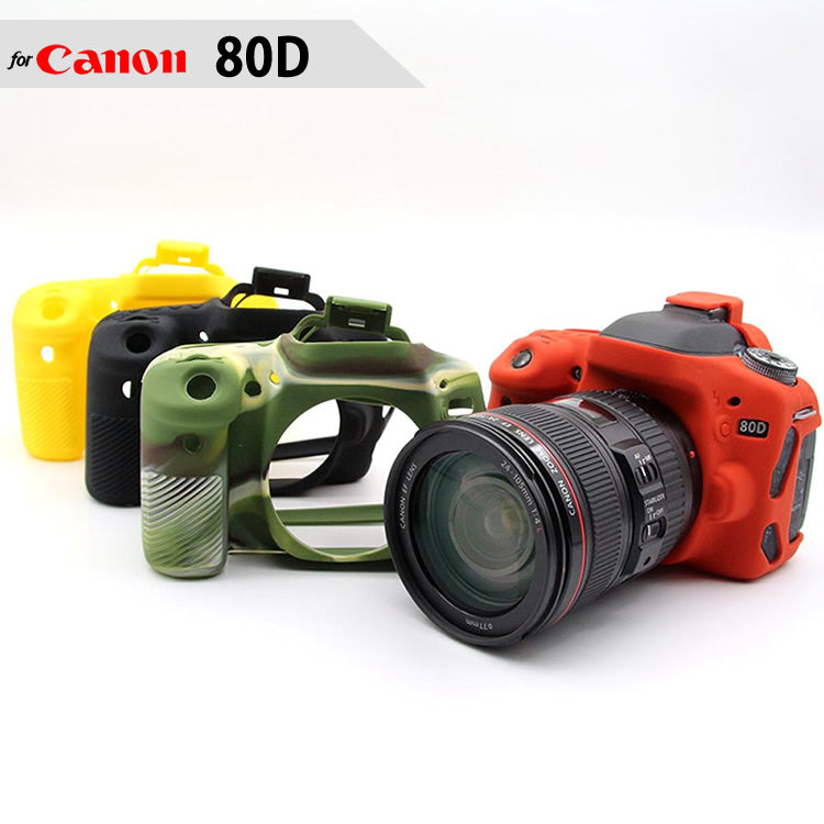 Silicone Rubber Case for Canon 80D