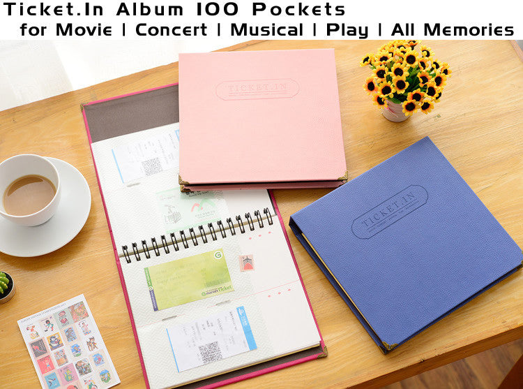 TICKET.IN Ticket Album | 120 pockets