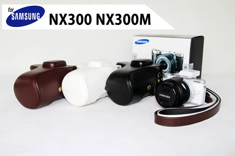 Leather Case Holster for Samsung NX300 NX300M