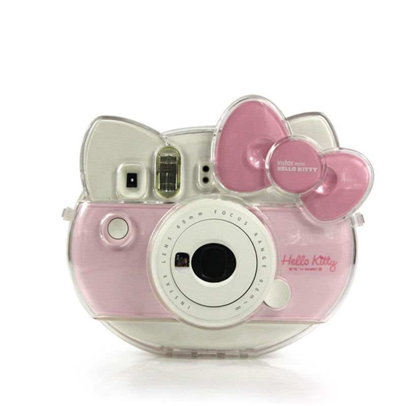 Transparent Shell Case for Fujifilm Polaroid Instax Mini Hello Kitty
