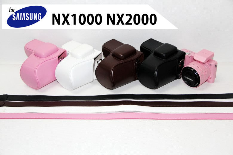 Leather Case Holster for Samsung NX1000 NX2000