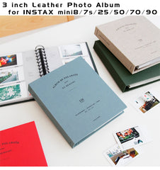3 inch Classic Leather Photo Album for Fujifilm Instax Mini | 120 pockets