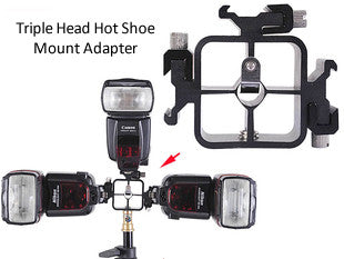Triple Head Hot Shoe Mount Adapter