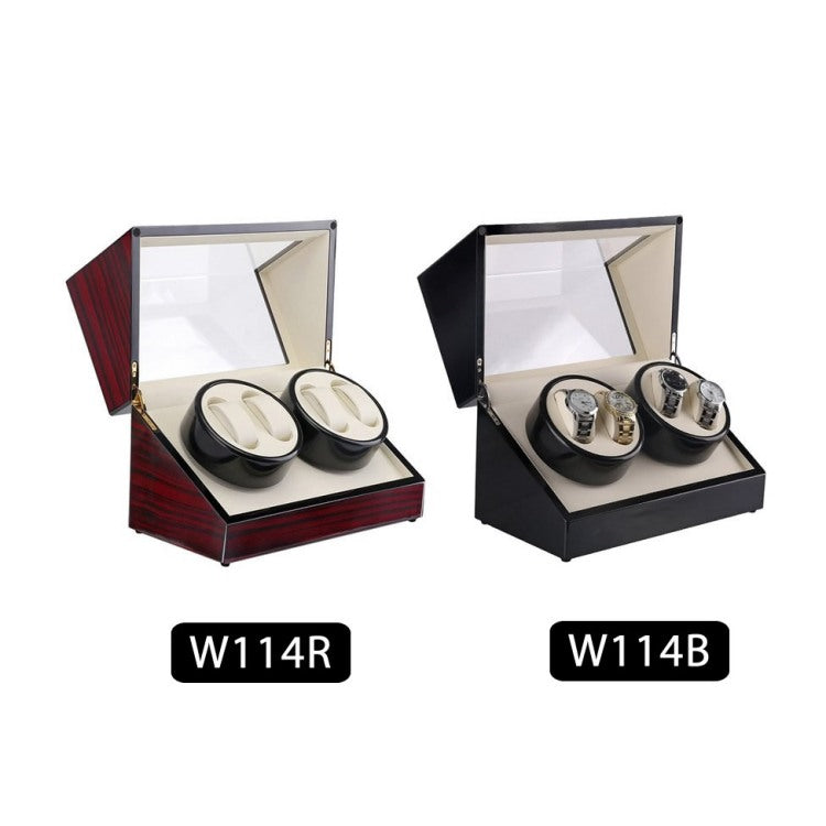 TAIYU Double Head 4 Slots Lacquer Wood Rotate Watch Winder Box Silent Motor