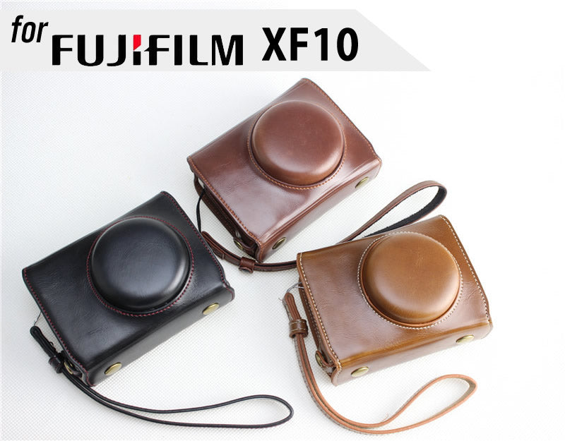 Leather Camera Case Cover Bag for Fujifilm XF10