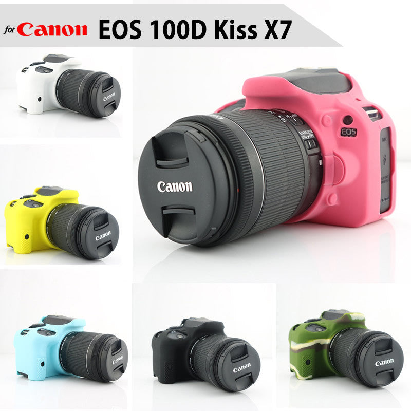 Silicone Rubber Case for Canon EOS 100D Kiss X7
