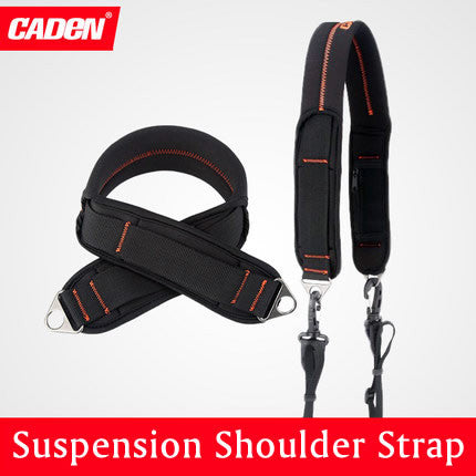 CADEN Suspension Black Shoulder Strap