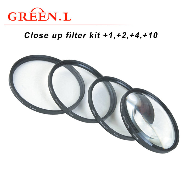 GreenL UV Close-up Filter kit +1,+2,+4,+10
