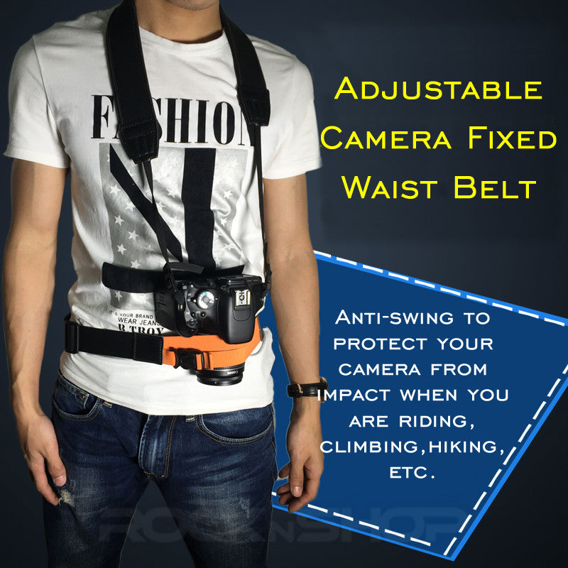 Adjustable Camera Fixed Waist Belt