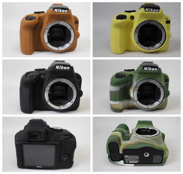 Silicone Rubber Case for Nikon D3400