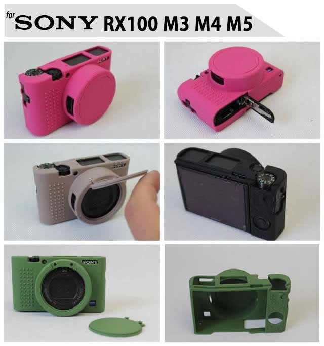 Silicone Rubber Case for Sony RX100 M3 M4 M5