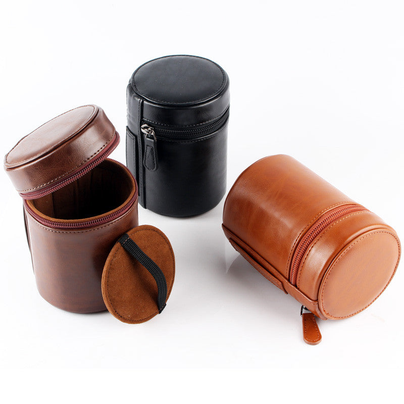 Leather Camera Lens Pouch