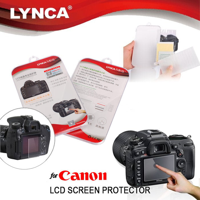 LYNCA Tempered Glass Screen Guard Protector for Canon