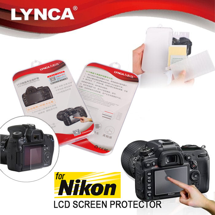 LYNCA Tempered Glass Screen Guard Protector for Nikon