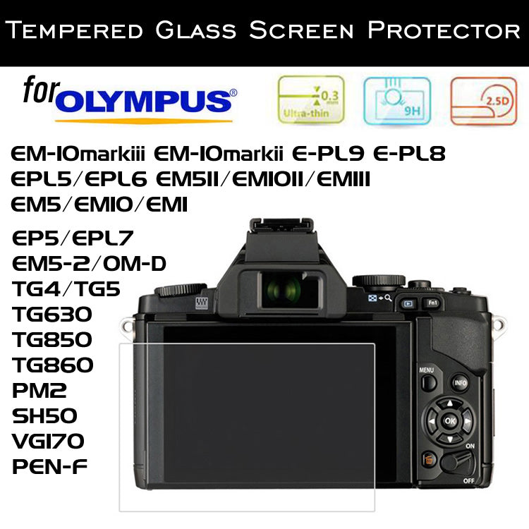 Tempered Glass Screen Protector for Olympus