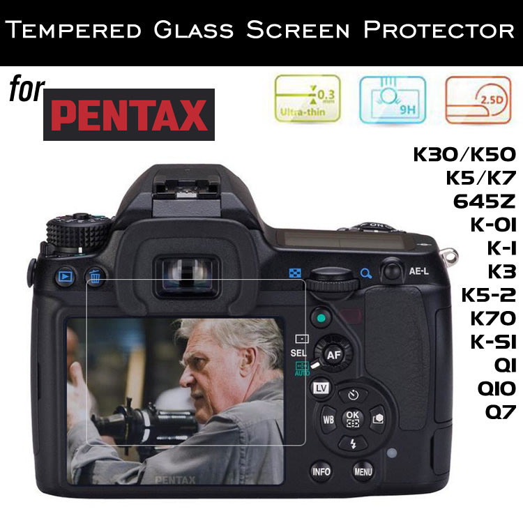 Tempered Glass Screen Protector for Pentax