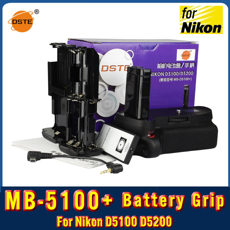 DSTE MB-D5100+ Battery Grip for Nikon D5100 D5200