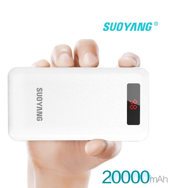 SUOYANG POWERBANK 20,000mAh with Battery LCD Indicator