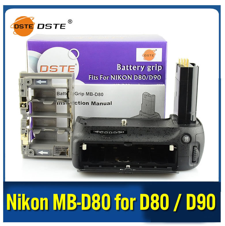DSTE MB-D80 Battery Grip Replacement for Nikon D80 D90