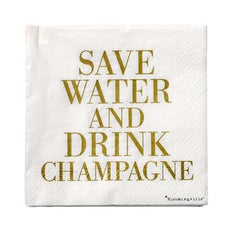 Save water and drink champagne napkin - iDecorate