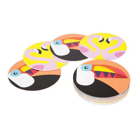 FLAMINGO & TOUCAN COASTERS