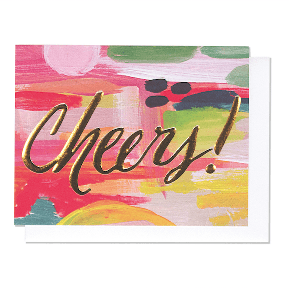Cheers Card (emboss + foil stamp) - iDecorate