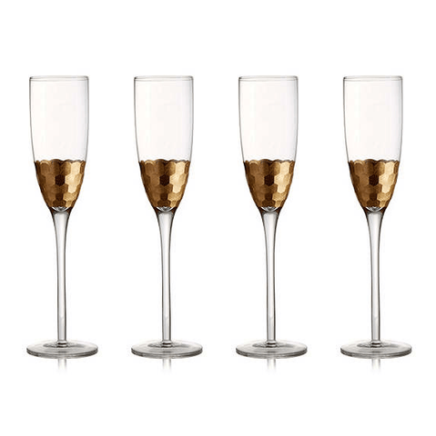 GOLD CHAMPAGNE FLUTE (set of 4)