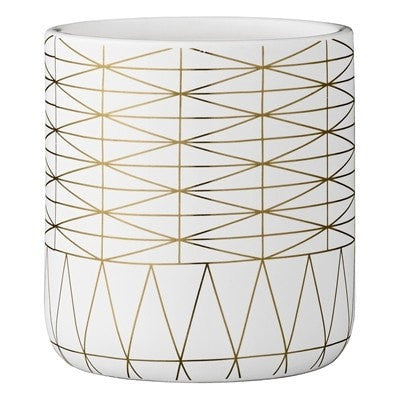 GOLD DETAIL FLOWER POT