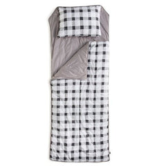 GREY GINGHAM SLEEPING BAG