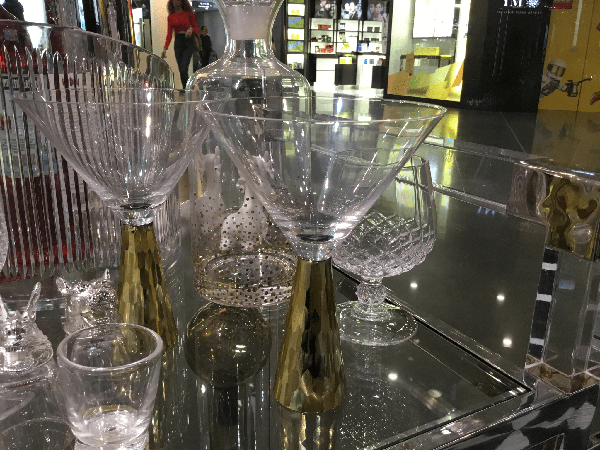 Gold Cocktail glass