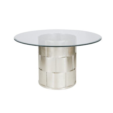 AMANDA SILVER DINNING TABLE