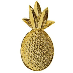 GOLDEN PINEAPPLE TRAY - iDecorate
