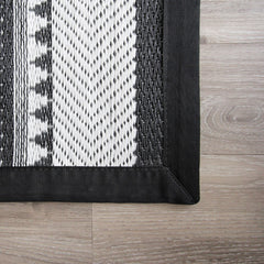 BLACK BON BON OUTDOOR MAT - iDecorate