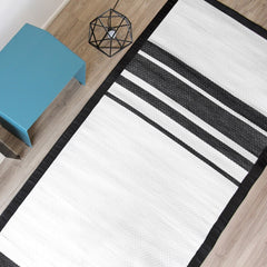 WHITE BON BON OUTDOOR MAT - iDecorate