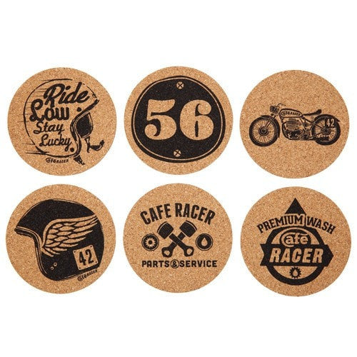 CORK COASTERS 6 SET