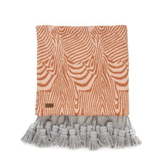 SANDLINES COTTON TASSEL THROW