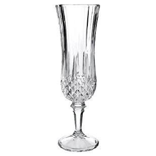 CRYSTAL CHAMPAGNE FLUTES SET OF 6