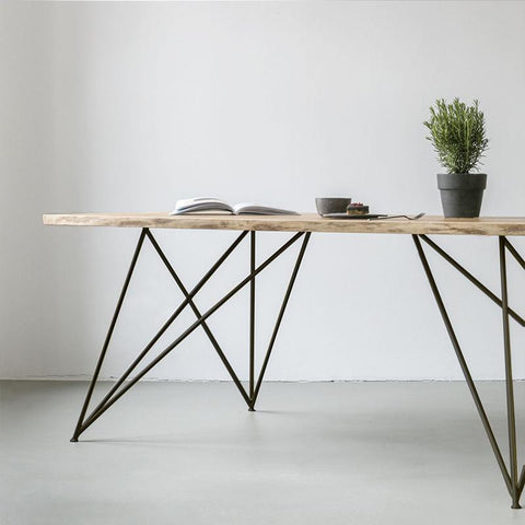 GEO OAK DINING TABLE