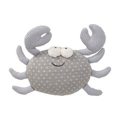 KNITTED TOY CRAB GREY