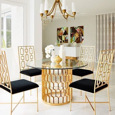 DAVID SILVER/BLACK DINNING CHAIR