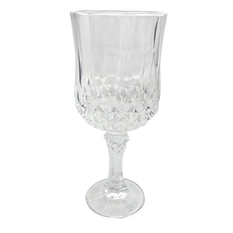 CRYSTAL RED AND WHITE  WINE GLASS SET OF 6