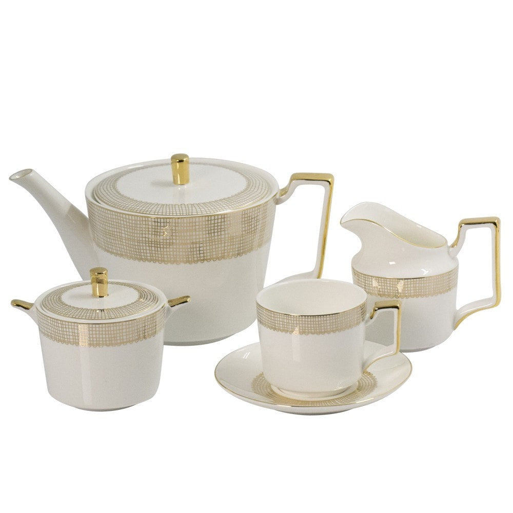 Lace Gold Tea Set - iDecorate