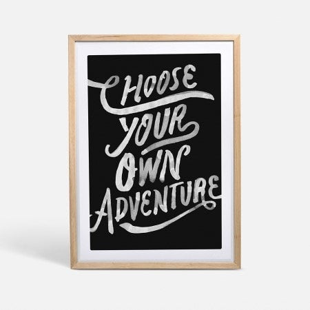 CHOOSE YOUR OWN ADVENTURE FRAMED - iDecorate
