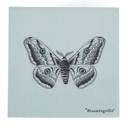 BUTTERFLY PAPER NAPKIN BLUE
